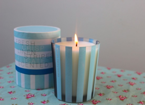 Linen Designers Guild Scented Candle lit 3