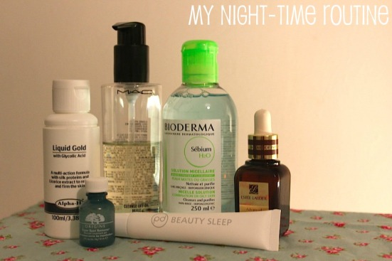 my night time beauty routine skin care