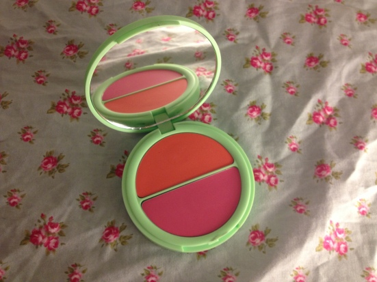 Topshop makeup cosmetics beauty up in the air blush duo louise tray review swatch