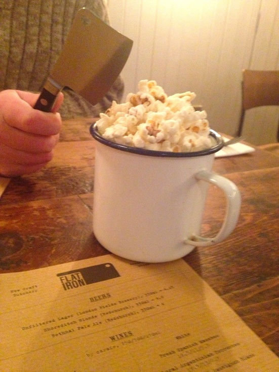 Flat Iron Beef Dripping Popcorn london soho steak restaurant review