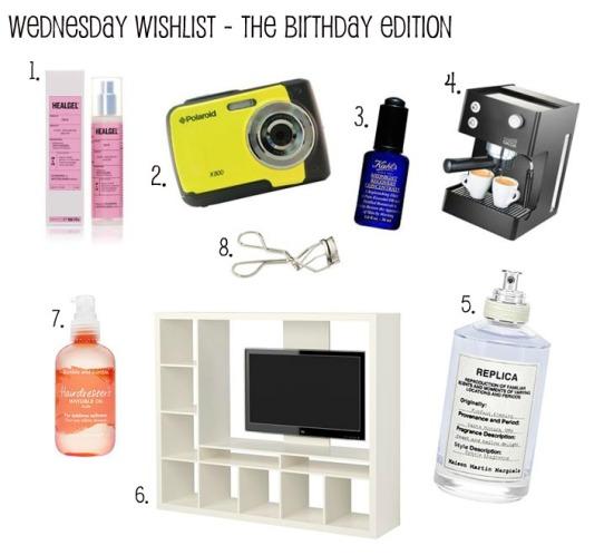 Birthday Wednesday Wishlist