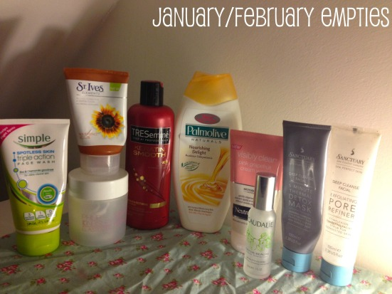 January February Empties Empty Beauty Skincare Products Used Up Review