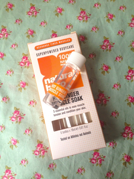 Natural Hero Hot Ginger Muscle Soak Vial Bottle Review
