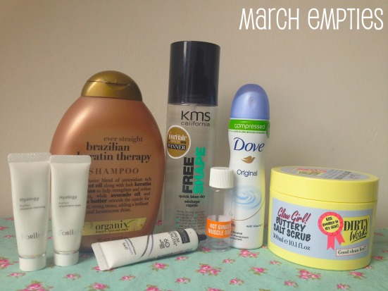 March Empties Empty Beauty Skincare Products Review