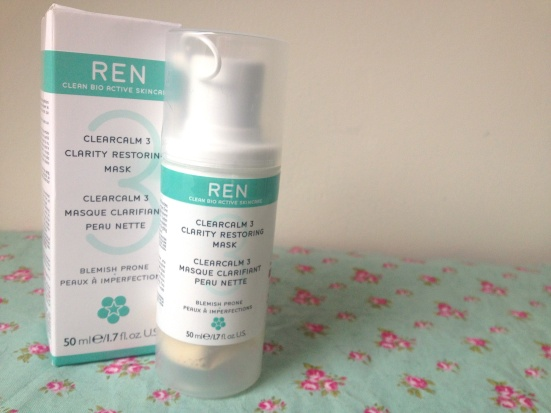REN Clearcalm 3 Clarity Restoring Mask Bottle Review Blemish Prone