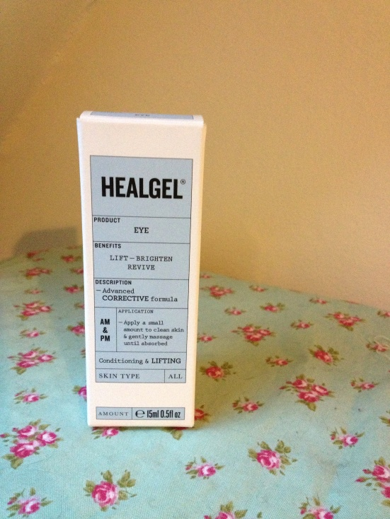 Healgel eye skincare box packaging new design