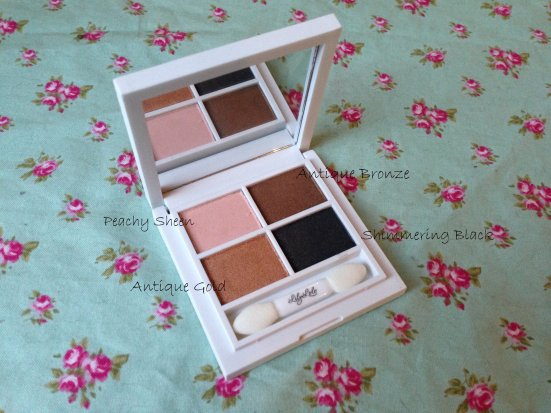 Lily Lolo Molten Bronze Eye Shadow Quad Labelled