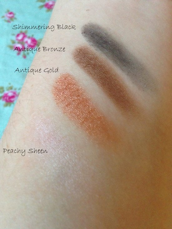 Lily Lolo Molten Bronze Quad Swatched