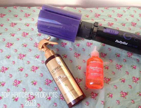 Top Haircare Products Favourite 2013 tagged Babyliss big hair styler bumble & bumble hairdresser invisible oil loreal everriche perfect elixir hair masque
