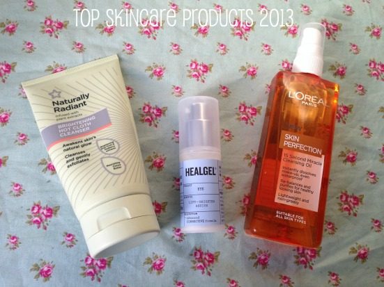 Top Favourite Skincare Products 2013 tagged superdrug naturally radiant brightening hot cloth cleanser healgel eye loreal skin perfection miracle cleansing oil